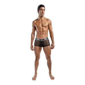 Male Power Peep Show Mini Short Black