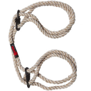 KINK Hogtied Bind and Tie 6mm Hemp Wrist or Ankle Cuffs
