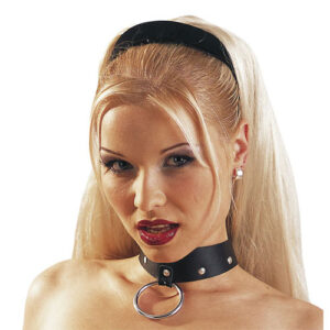 Leather Collar And Ring