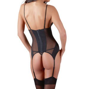 Cottelli Black Basque Suspender Set