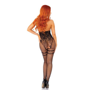 Leg Avenue Net And Lace Cupless Bodystocking UK 8 To 14