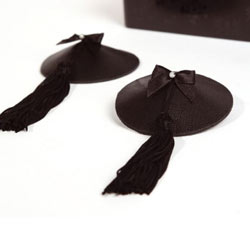 Bijoux Indiscrets Leather Burlesque Tassled Pasties