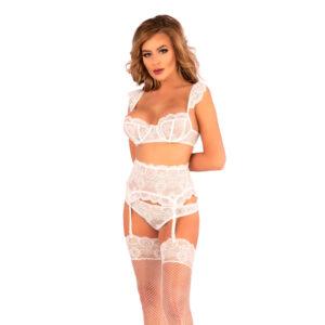 Corsetti Irissan Lace Bra Set White