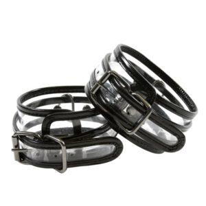 Bare Bondage Clear Vinyl Wrist Cuffs