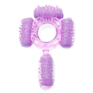 Humm Dinger Super Quad Vibrating Cock Ring Purple